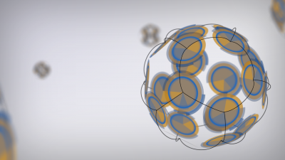 The 3D spheres of circles connected by lines
