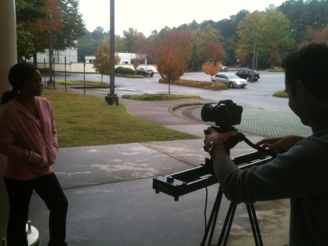 On set at ATL HS Mansell