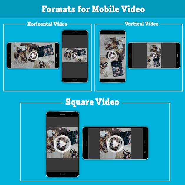 Square video for mobile fits Facebook and Instagram