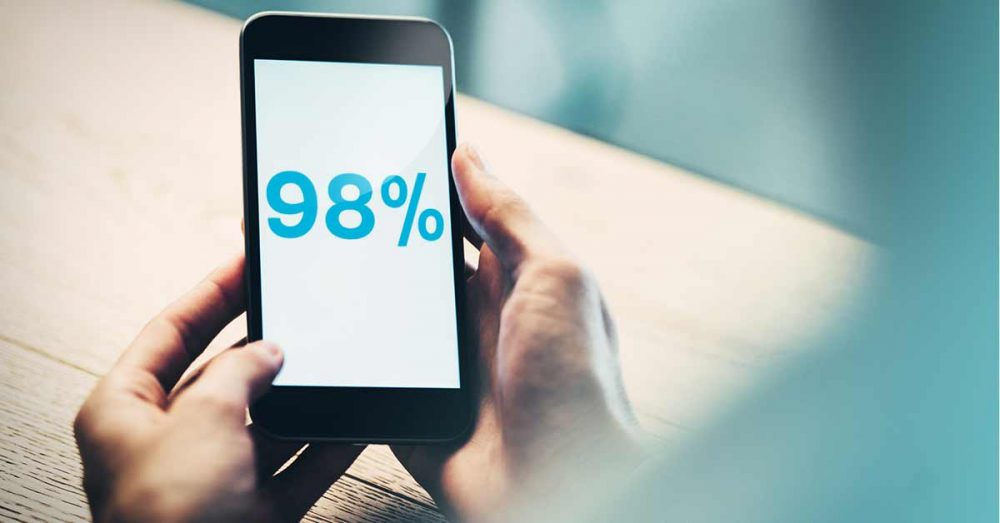 Users hold mobile devices-in-portrait 98 percent of the time