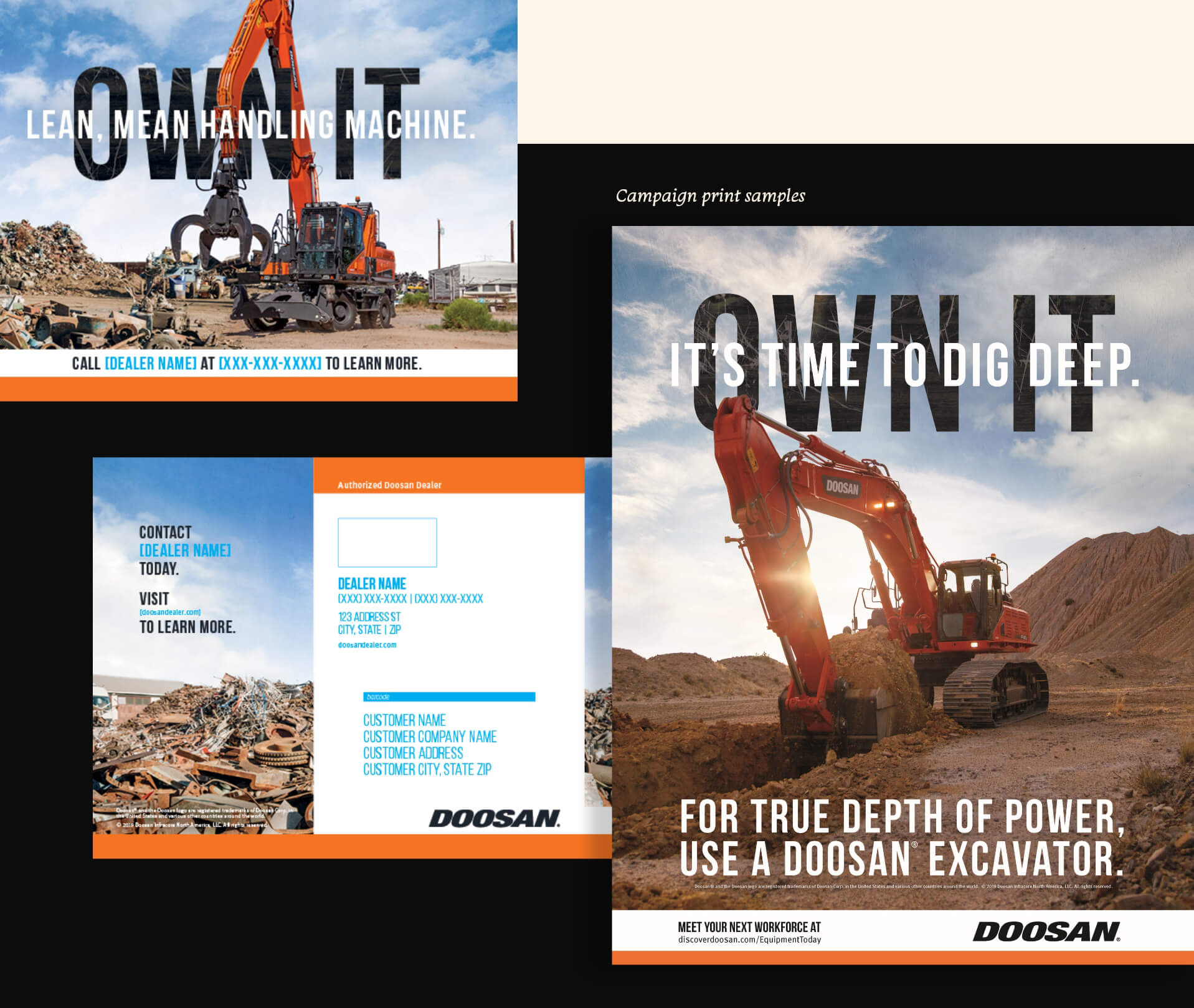 Doosan OWN IT Campaign Highlights/Screenshots & Print Campaign