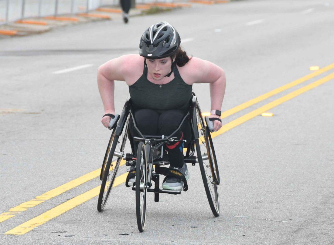 Editor Tatum Barber Wheelchair Racing
