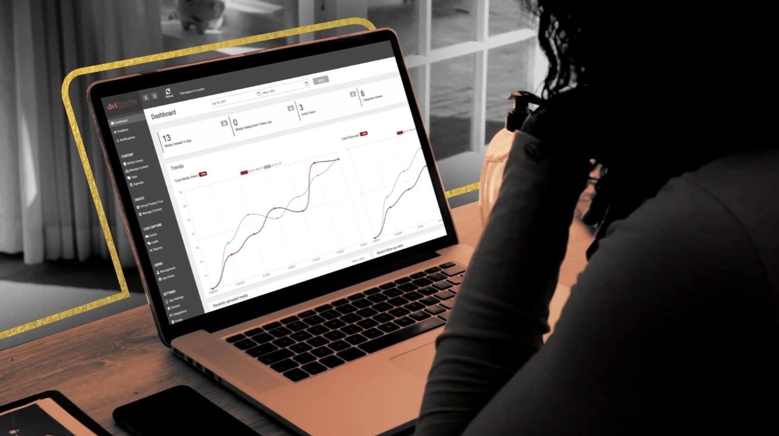 Marketer using a Sales Enablement Platform