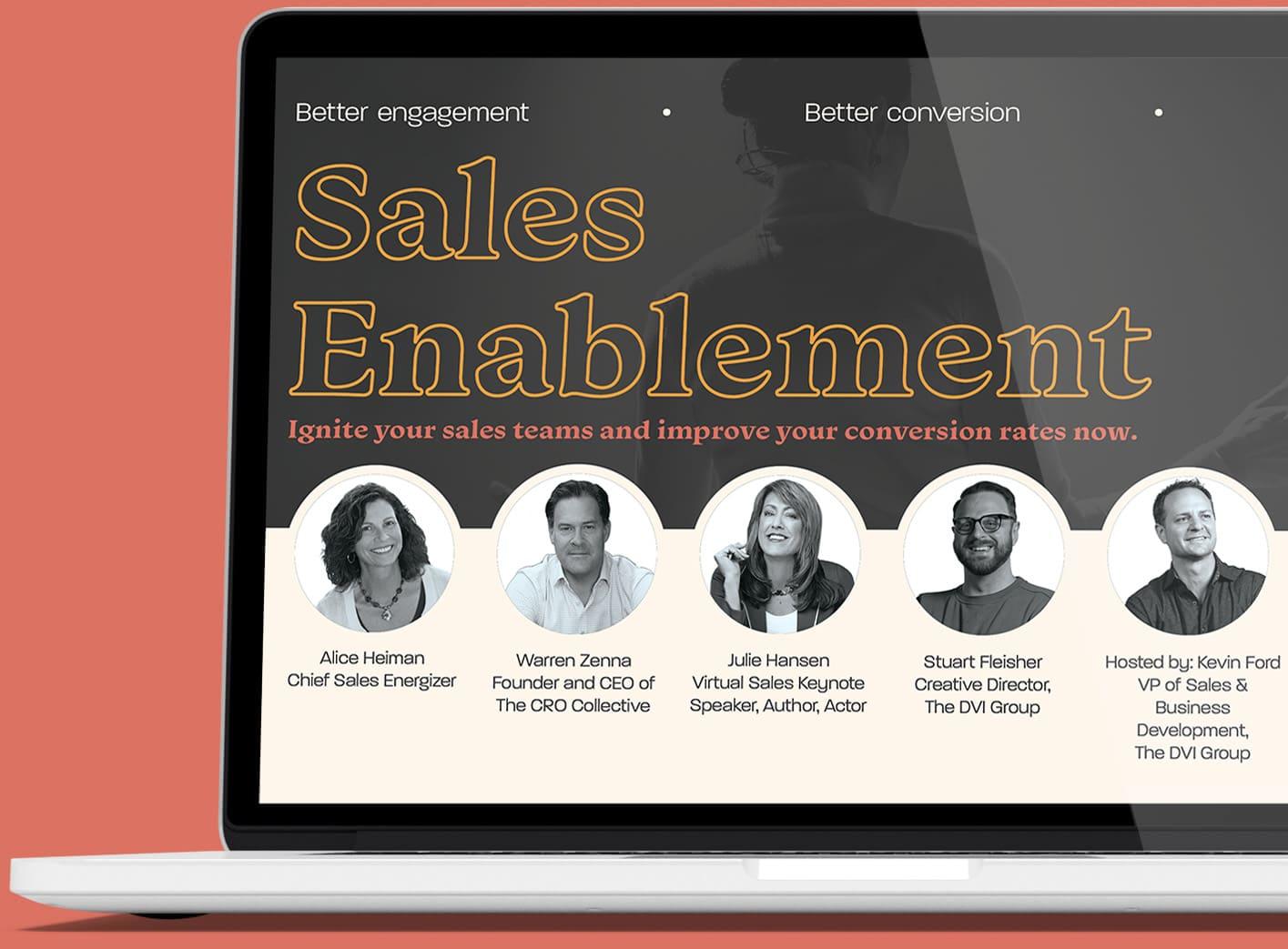 Free Webinar - Sales Enablement